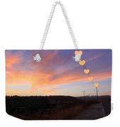 Hearts Sunset Weekender Tote Bag by Augusta Stylianou