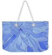 Heavenly Blue Dahlia Weekender Tote Bag