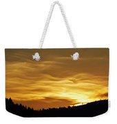 Heavenly Gold Sunset Weekender Tote Bag