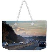 Heavy Traffic Stalls Interstate 5 Weekender Tote Bag