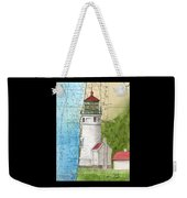 Heceta Head Lighthouse Or Nautical Chart Map Art Cathy Peek Weekender Tote Bag