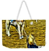 Heeled Steer Weekender Tote Bag