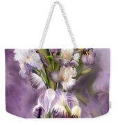 Heirloom Iris In Iris Vase Weekender Tote Bag