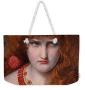 Helen Of Troy Weekender Tote Bag by Anthony Frederick Augustus Sandys