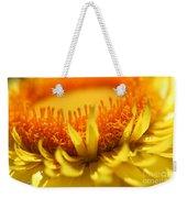 Helichrysum Bracteatum Named Strawburst Yellow Weekender Tote Bag