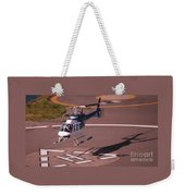 Helicopter Landing In Victoria, British Columbia Weekender Tote Bag
