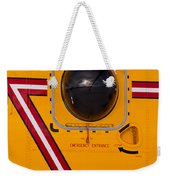 Helicopter Porthole Window Mirrors Rotor Blade Weekender Tote Bag