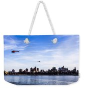 Helicopter Tour Of Nyc Weekender Tote Bag