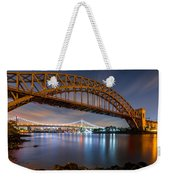 Hell Gate And Triboro Bridge By Night Weekender Tote Bag
