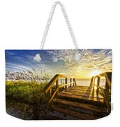 Hello Morning Weekender Tote Bag