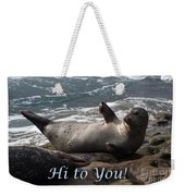 Hello To You Sea Lion Weekender Tote Bag