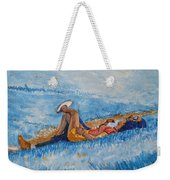 Hello Young Lovers In Blue Weekender Tote Bag