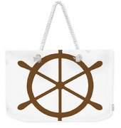 Helm In Brown And White Weekender Tote Bag