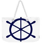 Helm In Navy Blue And White Weekender Tote Bag