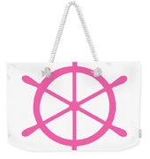 Helm In Pink And White Weekender Tote Bag