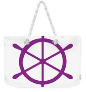 Helm In Purple And White Weekender Tote Bag