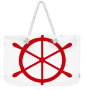 Helm In Red And White Weekender Tote Bag
