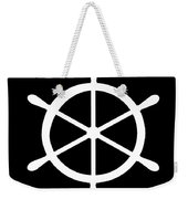 Helm In White And Black Weekender Tote Bag