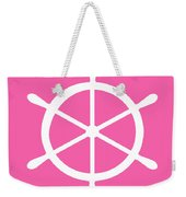 Helm In White And Pink Weekender Tote Bag