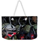 Helmets And Flight Gear Of Hellenic Air Weekender Tote Bag