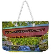 Helmick Mill Or Island Run Covered Bridge  Weekender Tote Bag