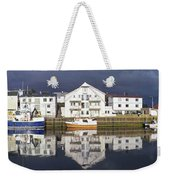 Henningsvaer Panoramic View Weekender Tote Bag