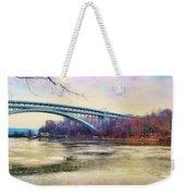 Henry Hudson Bridge And The Palisades Weekender Tote Bag