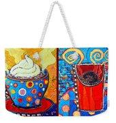 Her And His Coffee Cups Weekender Tote Bag
