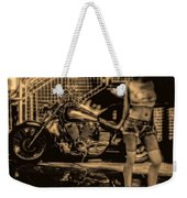 Her Bike Weekender Tote Bag