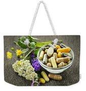 Herbal Medicine And Herbs Weekender Tote Bag