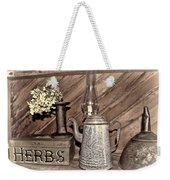 Herbs Bw Weekender Tote Bag