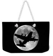 Hercules Moon Vertical Weekender Tote Bag