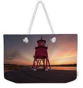Herd Groyne Lighthouse On The Water S Weekender Tote Bag