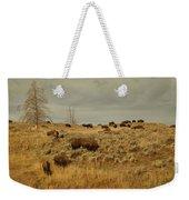 Herd Of Buffalo Weekender Tote Bag