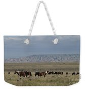 Herd Of Wild Horses Weekender Tote Bag by Juli Scalzi