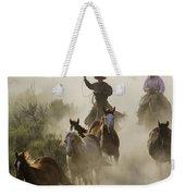 Herding Horses Oregon Weekender Tote Bag