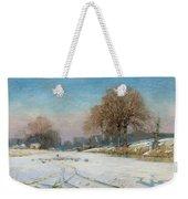 Herding Sheep In Wintertime Weekender Tote Bag by Frank Hind
