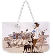 Herdsmen Of Sheep And Cattle, From The Weekender Tote Bag by William Henry Pyne