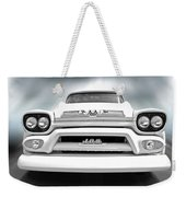 Here Comes The Sun - Gmc 100 Pickup 1958 Black And White Weekender Tote Bag