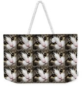 Here Kitty Kitty Close Up 25 Weekender Tote Bag by Andee Design