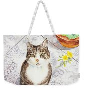 Here Kitty Kitty Kitty Weekender Tote Bag