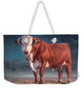 Hereford Bull Weekender Tote Bag
