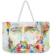 Herman Melville Watercolor Portrait.1 Weekender Tote Bag