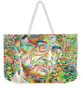 Hermann Hesse With Hat Watercolor Portrait Weekender Tote Bag