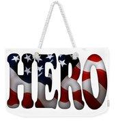 Hero Typography 2 Image On Text Weekender Tote Bag