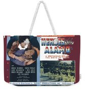 Heroes Of The Alamo Lobby Card 1936 Julian Rivero Collage Color Added 2012 Weekender Tote Bag