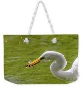 Heron And Dragonfly Weekender Tote Bag