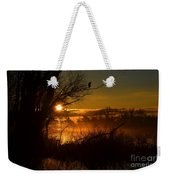 Heron At Sunrise Weekender Tote Bag