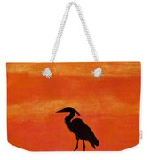 Heron - At - Sunset Weekender Tote Bag