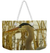 Heron Close Up Weekender Tote Bag